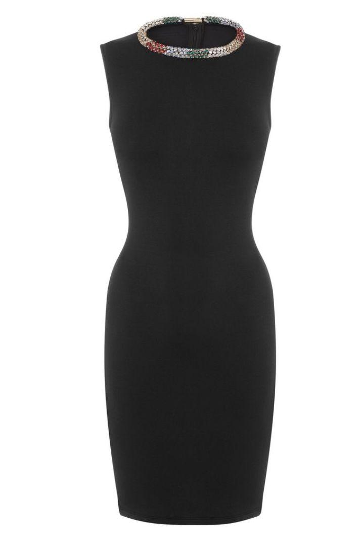 Alexander McQueen Black Sleeveless Beaded dress Preview Images