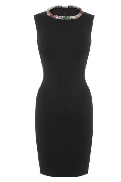 Alexander McQueen Black Sleeveless Beaded dress