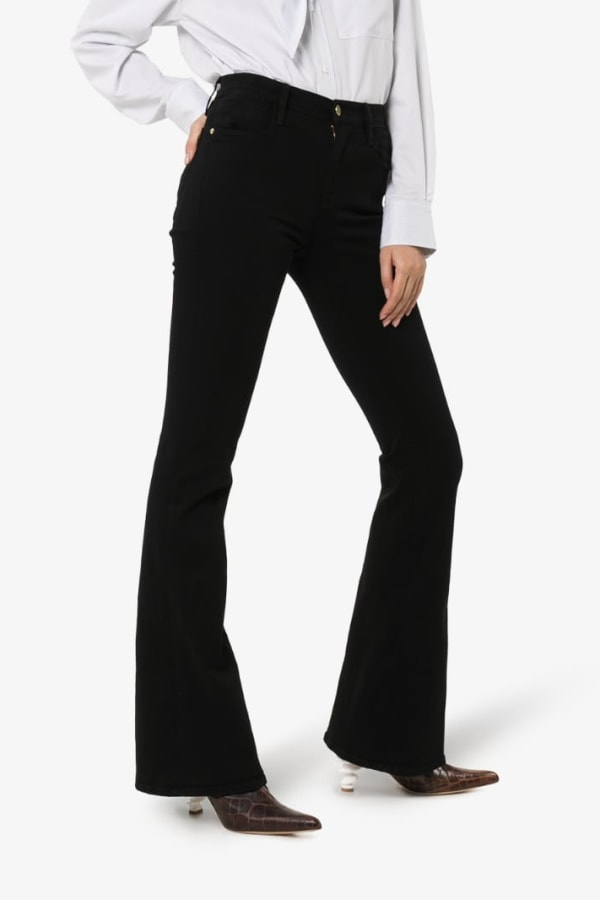 Image 2 of Frame high rise flared jeans