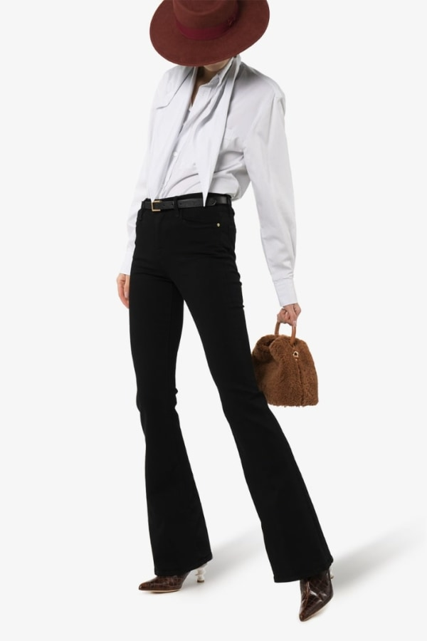 Image 5 of Frame high rise flared jeans