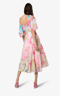 Peter Pilotto Floral Print Off-Shoulder Dress 2 Preview Images