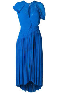 Preen by Thornton Bregazzi Milly Pleated Georgette Dress 3 Preview Images