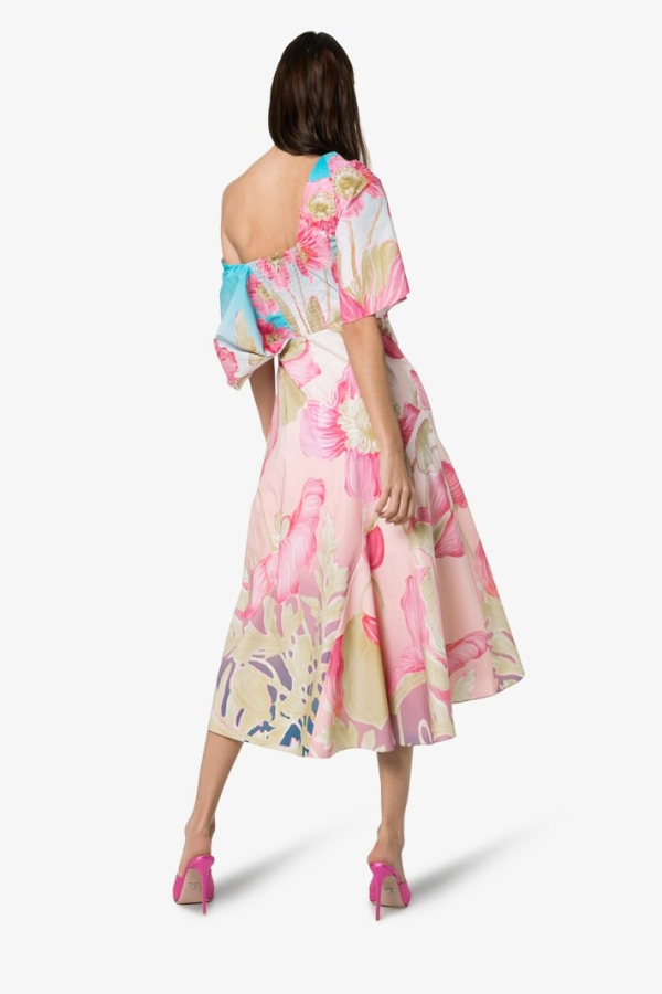 Peter Pilotto Floral Print Off-Shoulder Dress 2
