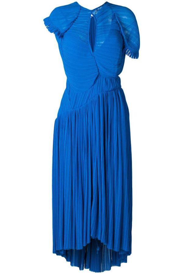 Preen by Thornton Bregazzi Milly Pleated Georgette Dress 3