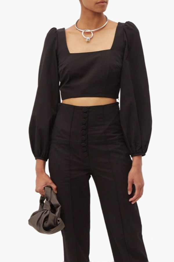 Image 5 of Racil pat moiré cropped top