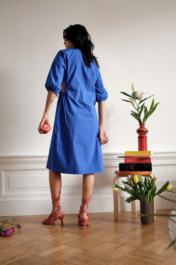 Image 5 of Wray alyssa dress kahlo blue
