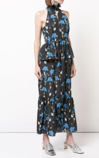 Borgo De Nor Floral printed midi dress 3 Preview Images