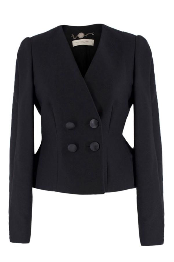Stella McCartney Collarless Black Blazer