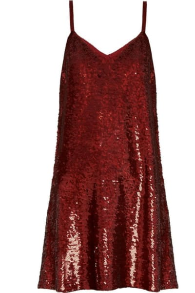 Ashish Sequin V-Neck Dress