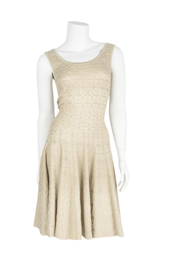 Alaïa Gold Gold-Tone Mini Dress 5