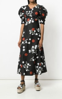 ISA ARFEN Midi puff Sleeve Dress 2 Preview Images