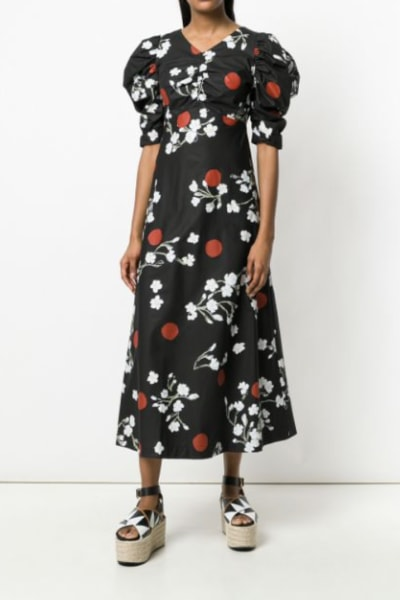 ISA ARFEN Midi puff Sleeve Dress 2