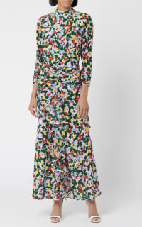 RIXO London Lucy Camouflage Micro Tulip Dress 2 Preview Images