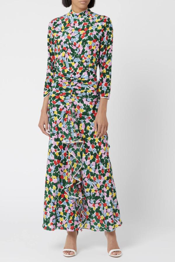 RIXO London Lucy Camouflage Micro Tulip Dress 2