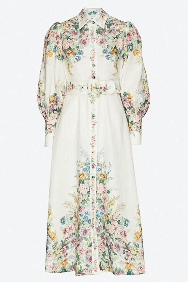 Zimmermann Wavelength Midi Dress