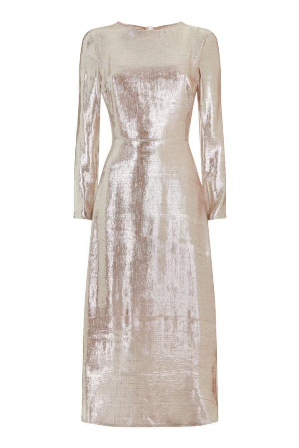 Hobbs Debutante Lame Dress 3