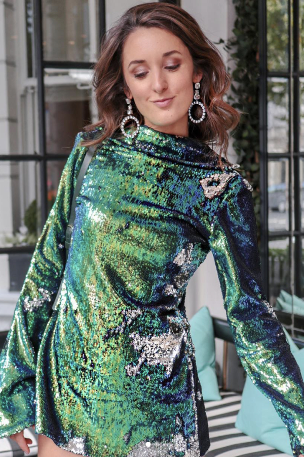 Halpern Sequin Embellished Top 2