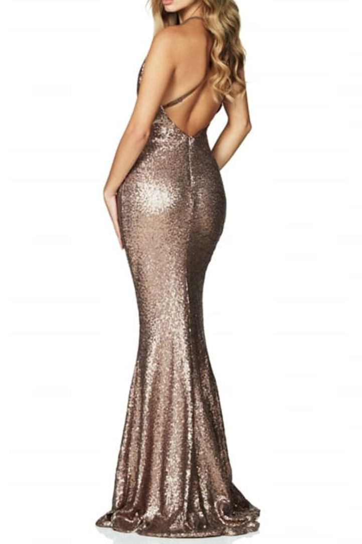 Nookie Gold sequin gown 2