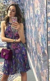 Matthew Williamson Kantuta Valley printed silk-chiffon halterneck mini dress 3 Preview Images