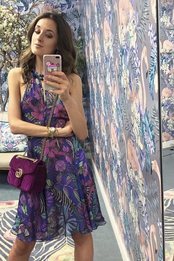 Matthew Williamson Kantuta Valley printed silk-chiffon halterneck mini dress 3