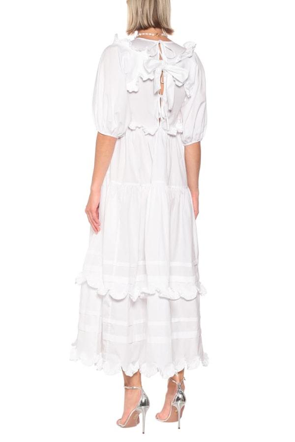 Cecilie Bahnsen Maren tiered-skirt cotton midi 1 Preview Images