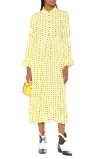 Ganni Floral Crepe Midi Dress 2 Preview Images