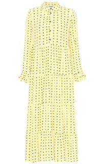 Ganni Floral Crepe Midi Dress Preview Images