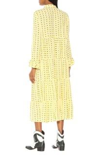 Ganni Floral Crepe Midi Dress 3 Preview Images