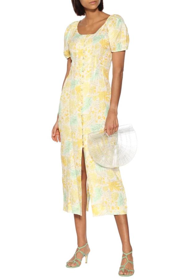 Cult Gaia Charlotte floral linen dress 2