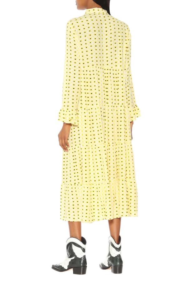 Ganni Floral Crepe Midi Dress 3