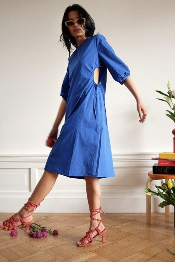 Image 2 of Wray alyssa dress kahlo blue