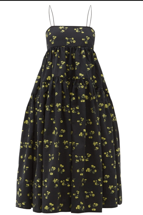 Image 4 of Cecilie Bahnsen sofie floral black yellow