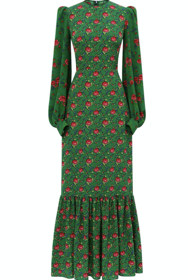 The Vampire's Wife Green Floral Maxi Dress 0 Preview Images