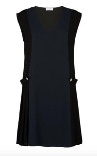 Claudie Pierlot Pleated V-Neck Dress Preview Images