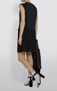 Claudie Pierlot Pleated V-Neck Dress 2 Preview Images
