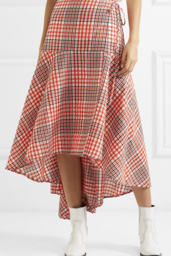 Ganni Checked Skirt 2