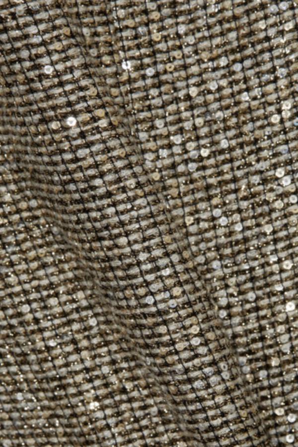 Saint Laurent Sequin metallic tweed dress 4