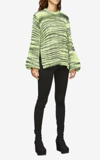Ganni Green Balloon-sleeve Sweater 4 Preview Images