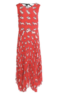 Markus Lupfer Red Midi Dress Preview Images