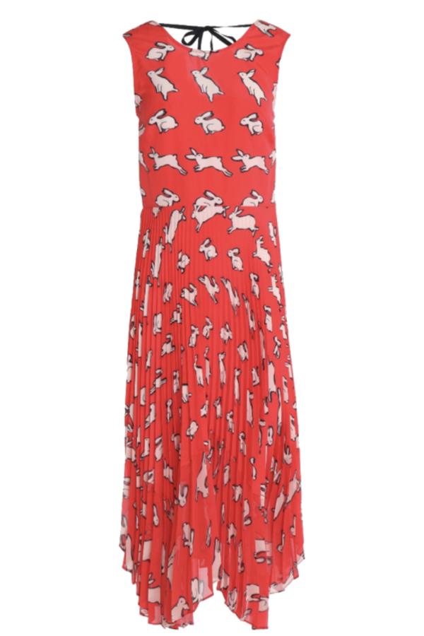 Markus Lupfer Red Midi Dress
