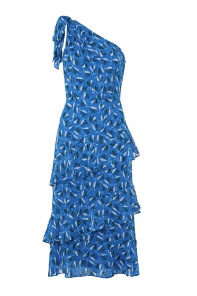 Whistles Almond Print Dobby Dress