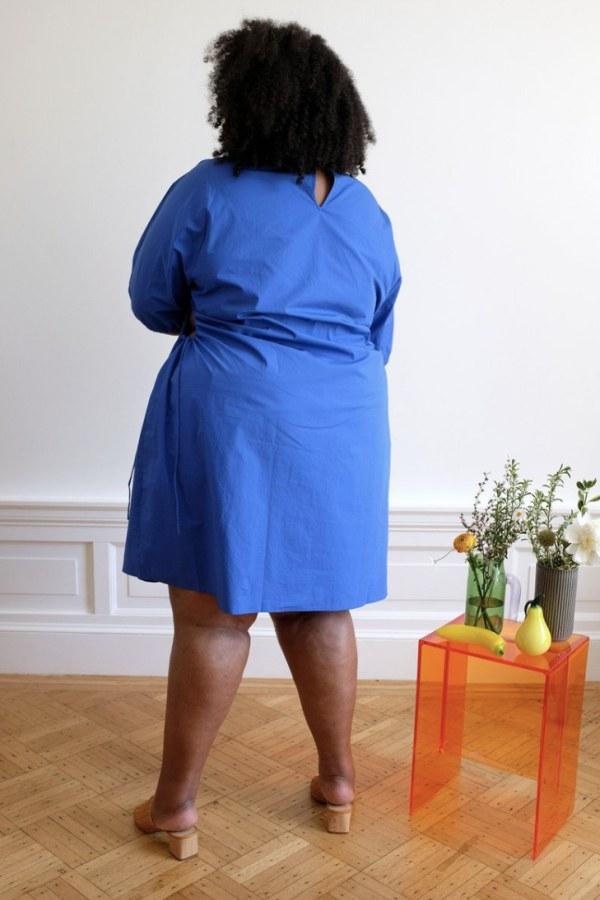 Image 4 of Wray alyssa dress kahlo blue