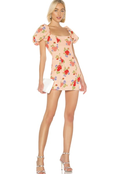 De La Vali Rose Print Mini Dress 2