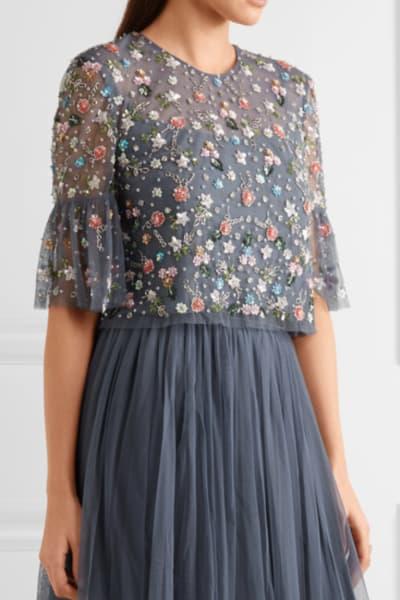 Needle & Thread Starburst tulle top and skirt 4