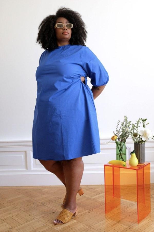 Image 3 of Wray alyssa dress kahlo blue