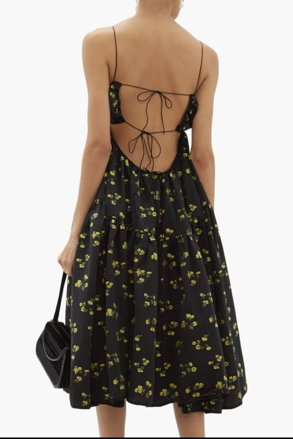 Image 2 of Cecilie Bahnsen sofie floral black yellow
