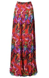 Matthew Williamson Silk Chiffon Maxi Skirt Preview Images