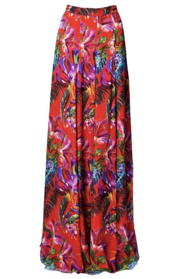 Matthew Williamson Silk Chiffon Maxi Skirt