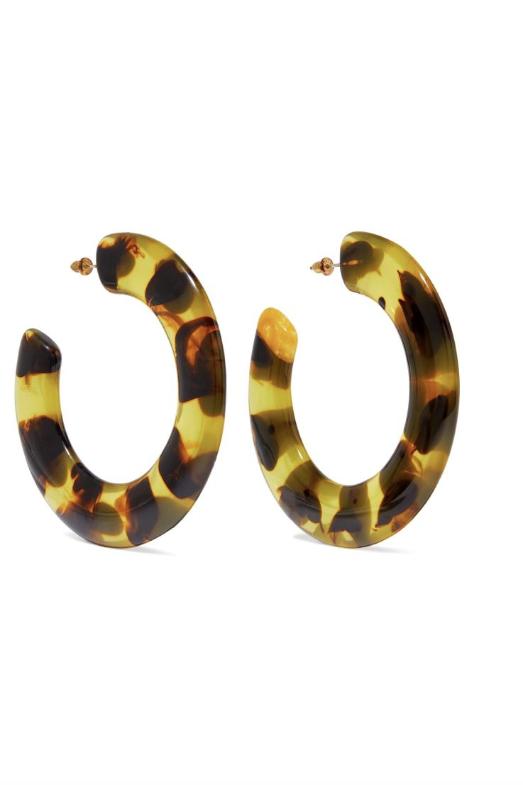 Cult Gaia Kennedy Hoop Tortoiseshell Earrings 2 Preview Images