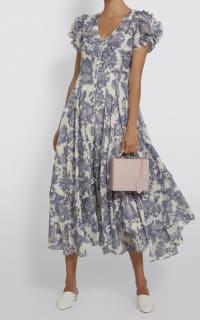 LoveShackFancy Andie Floral Midi Dress 3 Preview Images